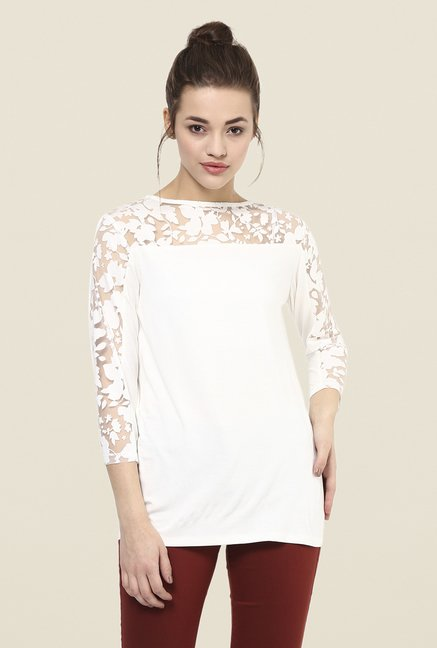 Femella White Lace Top