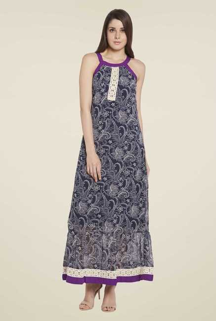 Globus Navy Floral Print Maxi Dress