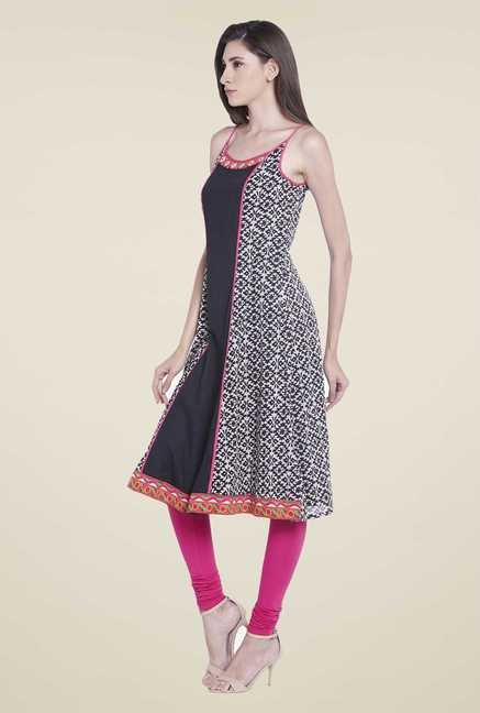 Globus Black Cotton Kurta