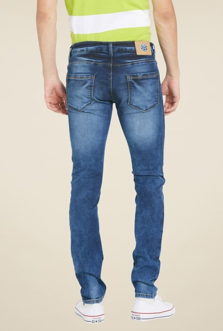 Globus Dark Blue Skinny Fit Denim Jeans