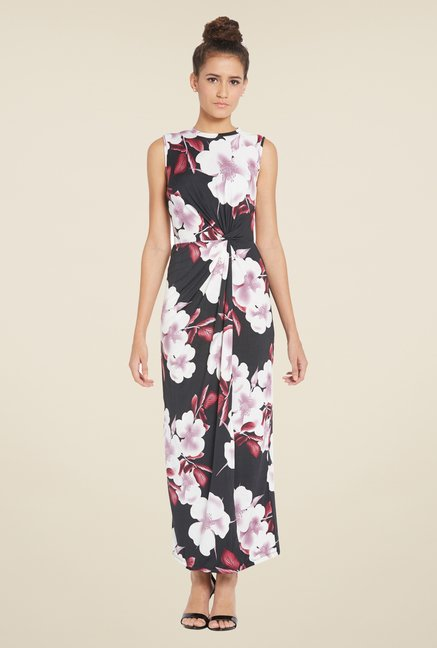 Globus Black Floral Maxi Dress