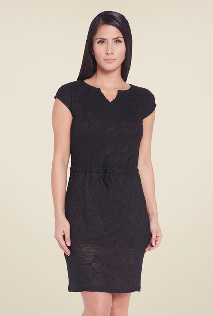 Globus Black Sheath Mini Dress