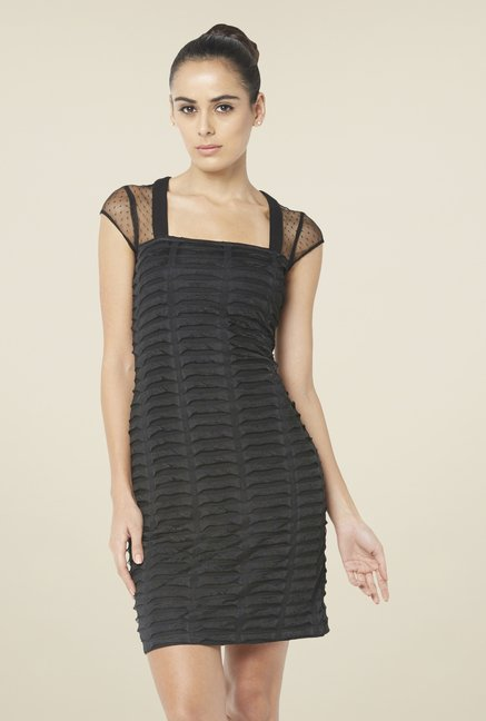 Globus Black Ribbed Dress