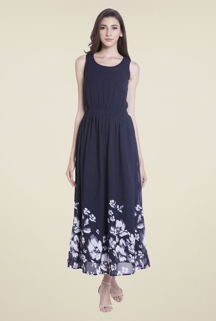 Globus Navy Floral Print Dress
