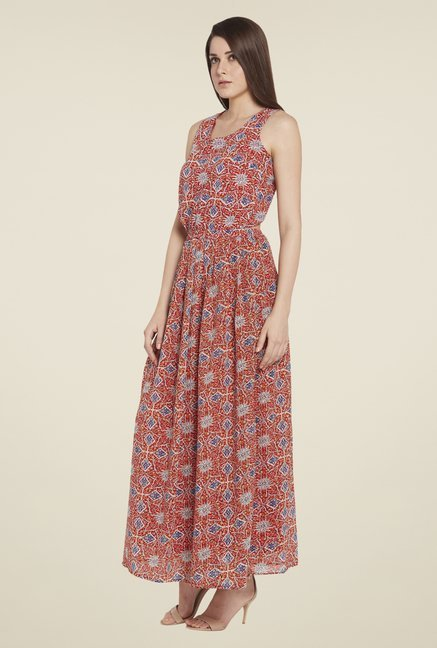 Globus Red Printed Dress