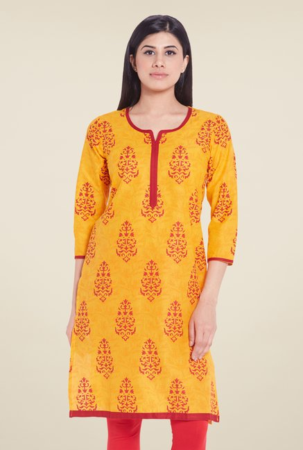 Globus Yellow Cotton Kurti