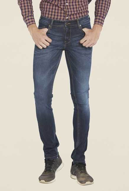 Globus Dark Blue Light Wash Skinny Fit Jeans