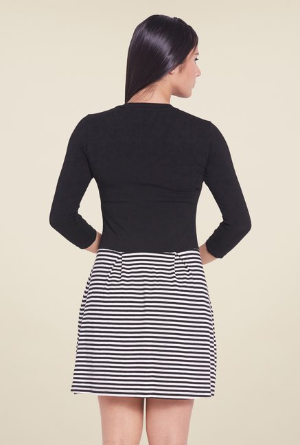 Globus Black Striped Mini Dress