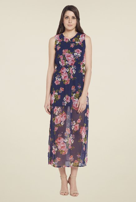 Globus Navy Sleeveless Maxi Dress