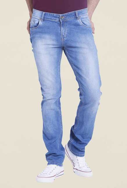 Globus Blue Heavily Washed Denim Jeans