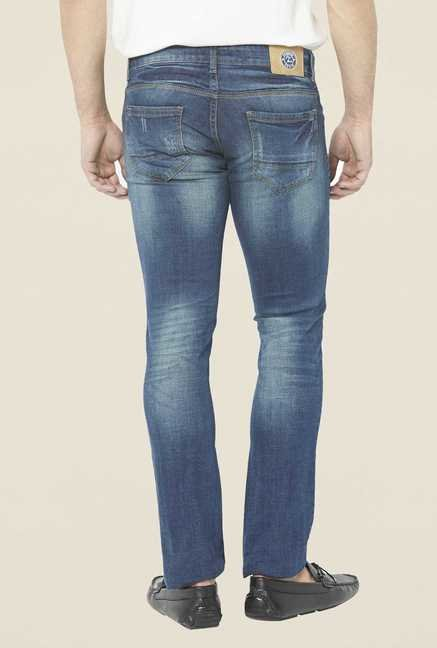 Globus Blue Lightly Washed Regular Denim Jeans