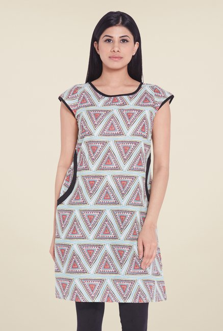 Globus Green Printed Cotton Tunic