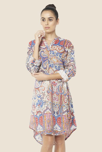 Globus Multicolor Printed Shift Dress