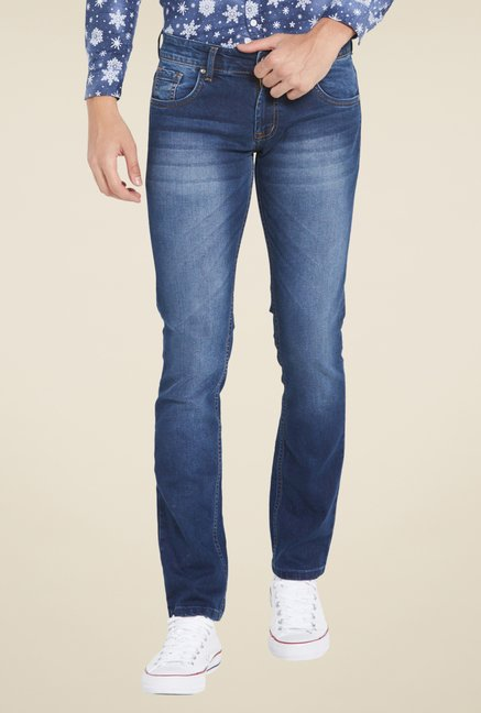 Globus Dark Blue Skinny Fit Cotton Jeans