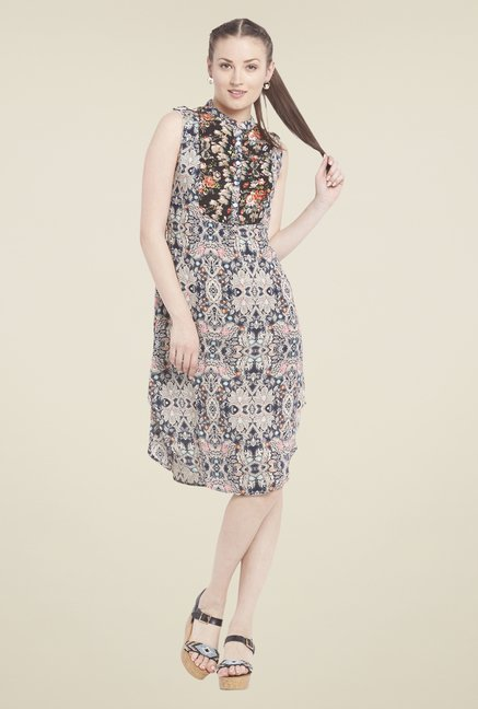 Globus Beige Printed Dress