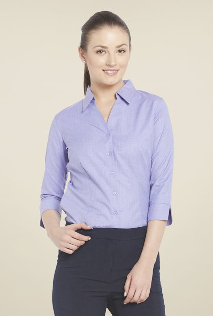 Globus Purple Solid Shirt