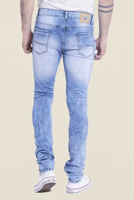Globus Ice Blue Heavily Washed Jeans