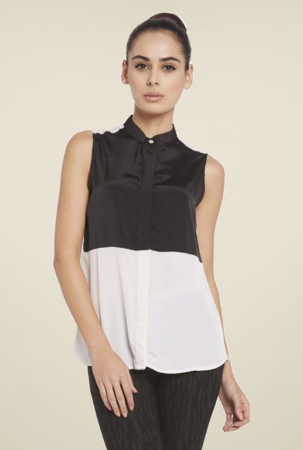 Globus Black & White Solid Shirt