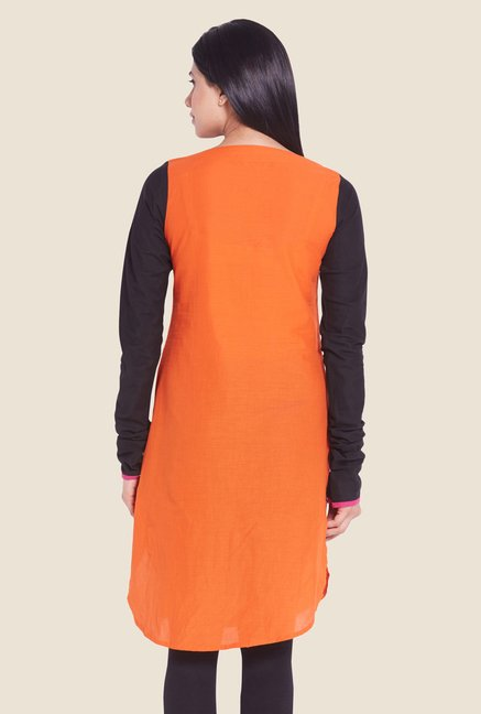 Globus Orange Regular Fit Kurti