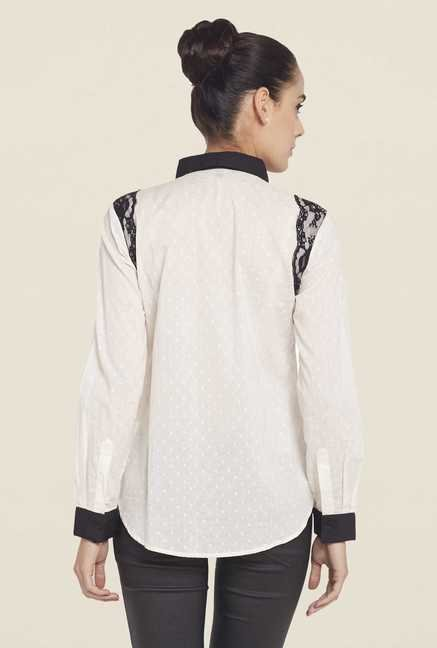Globus Off White Printed Shirt