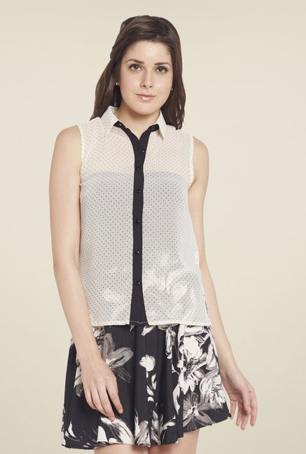Globus Off White Polka Dot Shirt