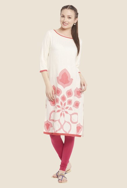 Globus White Regular Fit Kurta