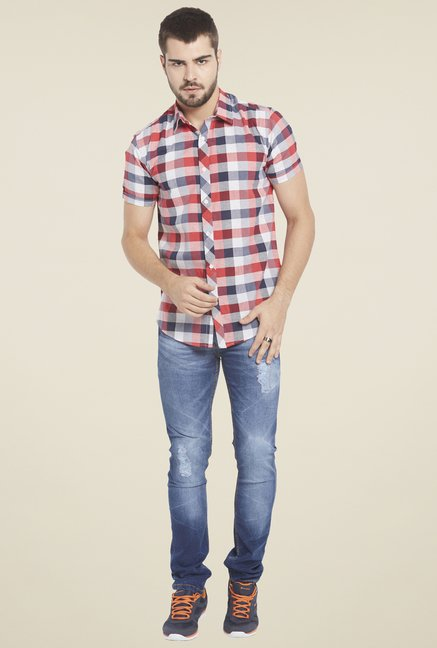 Globus Red & Blue Checked Shirt