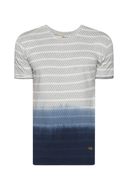 ETA by Westside Off White Striped T Shirt
