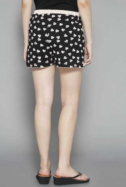 Intima by Westside Black Heart Printed Shorts