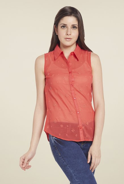 Globus Coral Embroidered Shirt