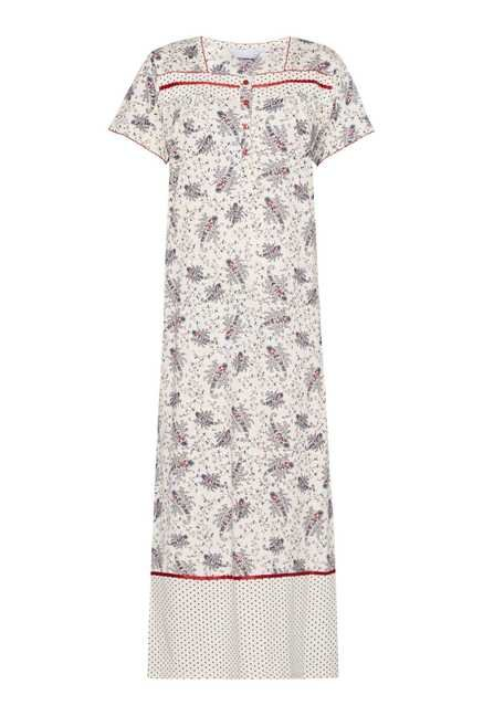 Intima by Westside Cream Printed Nightdress