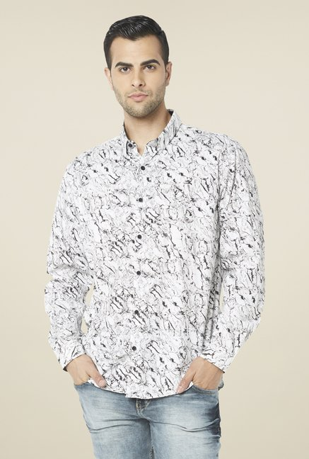 Globus White Printed Shirt