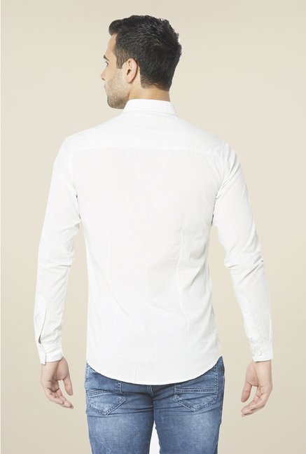Globus White Solid Shirt