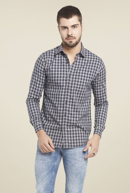 Globus Navy Checked Shirt