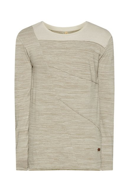 ETA by Westside Beige Textured T Shirt
