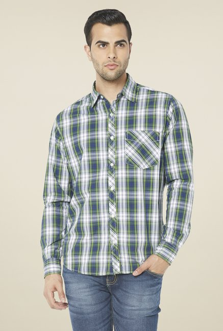 Globus Green & Blue Checked Shirt
