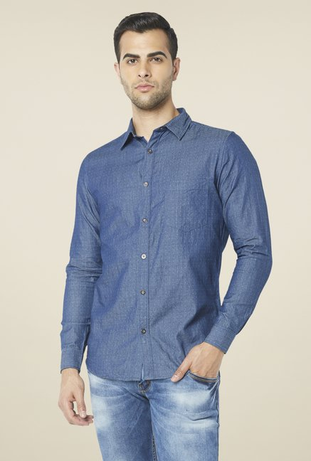 Globus Blue Polka Dot Printed Shirt