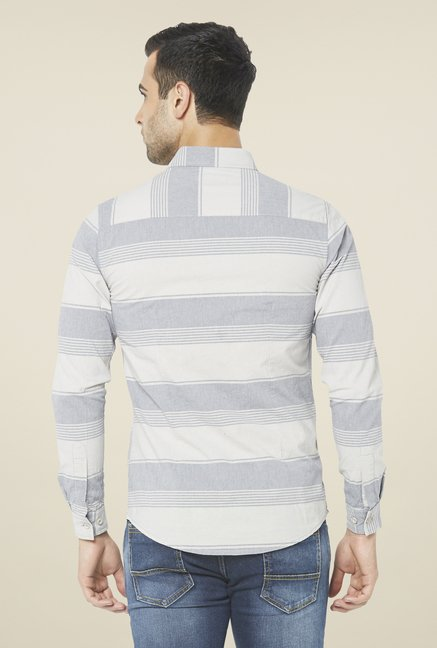 Globus Light Grey Striped Shirt