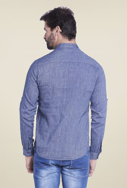 Globus Blue Textured Shirt