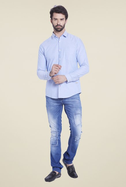 Globus Light Blue Solid Shirt