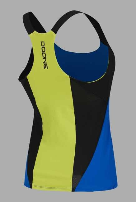 Doone Blue Solid Training Singlet