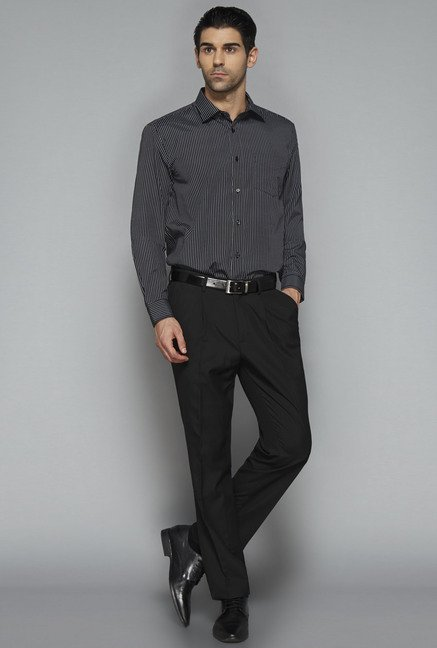 Weststreet by Westside Black Striped Shirt