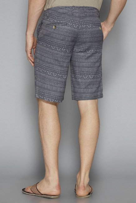 ETA by Westside Grey Printed Shorts