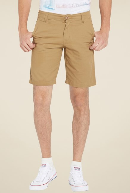Globus Brown Solid Shorts