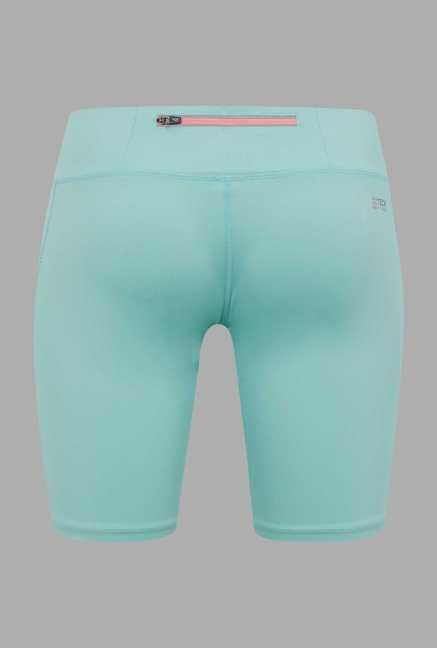 Outpace Turquoise Solid Running Shorts