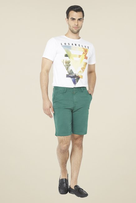 Globus Green Solid Shorts