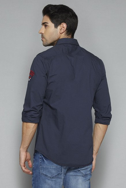 Nuon by Westside Navy Solid Shirt