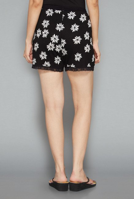 Intima by Westside Black Floral Shorts
