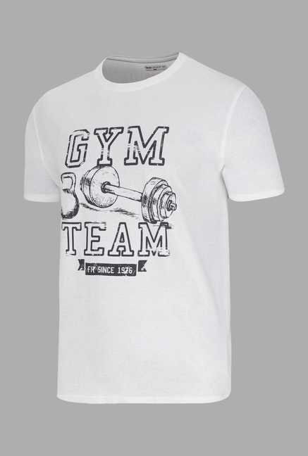 Doone White Graphic Print Training T Shirt