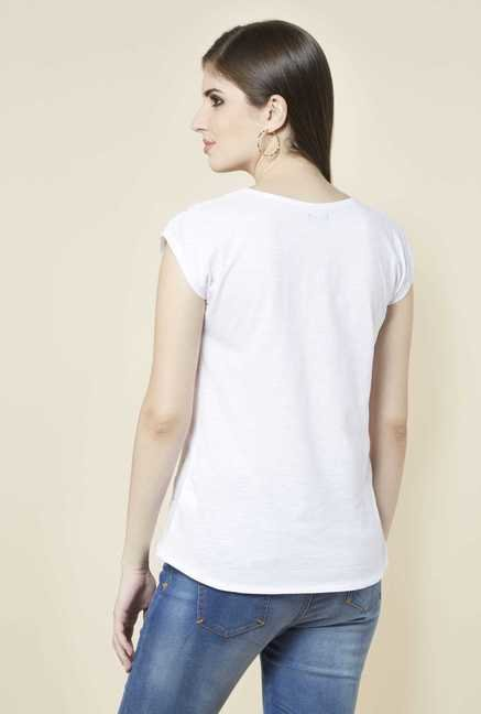 Zudio White Embellished Top